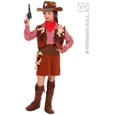 Cowboy kostuum meisje deluxe