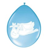 Ballonnen geboorte blauw