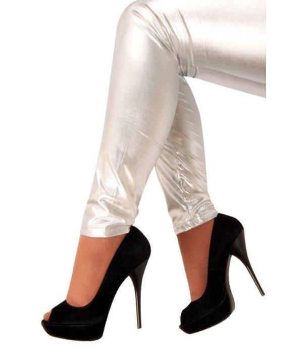 Legging metallic zilver