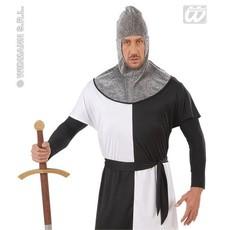 Kap middeleeuwse strijder metalic volwassen
