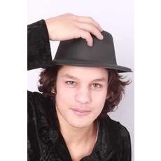 Al Capone hoed vinyl zwart