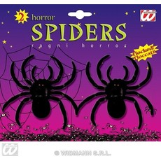 2 fluwelen spinnen 10cm