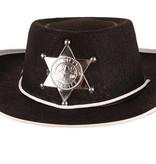 Cowboy hoedje kind zwart