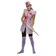 Kostuum Zombie nurse 4-delig