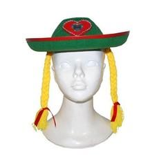Tiroler hoed Heidi met Vlechten