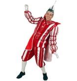 Prins Carnaval pak rood/wit
