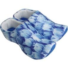 Klompsloffen Delftsblauw Tulpprint