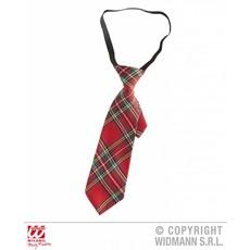 Rode geruite stropdas