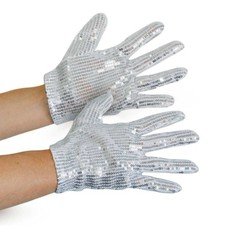 Michael Jackson Handschoenen Zilver pailletten volwassen