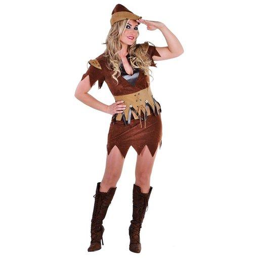 Robin meisje kostuum elite bruin