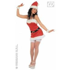Sexy kerstvrouw kostuum fluweel