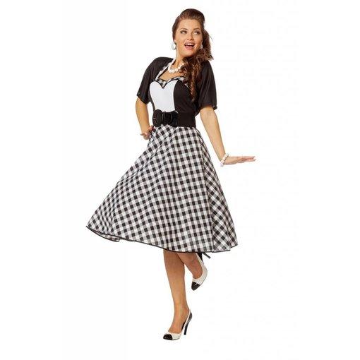 Rock en Roll kostuum dame