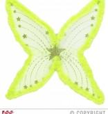 Maxi vleugel glittergroen met marabou