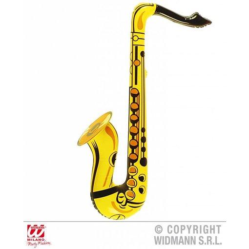 Saxofoon opblaasbaar geel