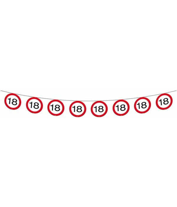 Vlaggenlijn verkeersbord '18'