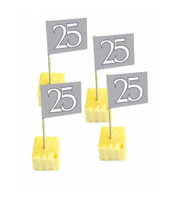 Vaak Vlag Prikkers 25 Jarig Jubileum - 50 stuks - Feestbazaar.nl &CJ07