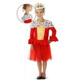 Rode Koninginnenjurk met Bontkraag