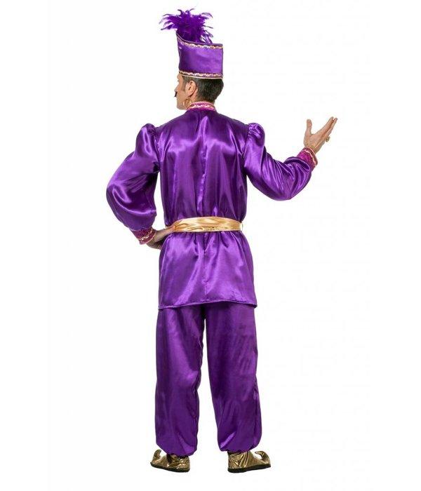 Sultan kostuum paars luxe