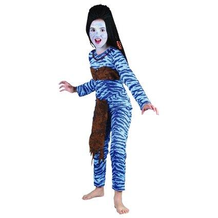 Jungle strijder avatar kostuum meisje