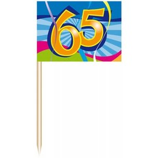 Coctailprikkers 65 jr. (50 st)