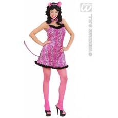 Sexy roze luipaard kostuum