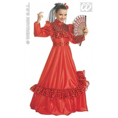 Spaanse danseres kind kostuum