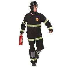 Kostuum brandweer zwart