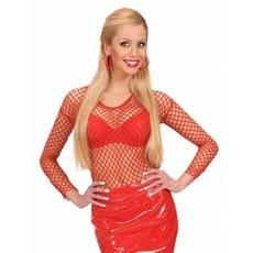 Visnet shirt rood dames