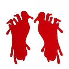 Raamstickers bloederige voet 20cm