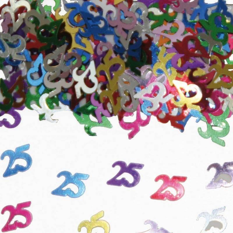 25 Jaar Tafeldecoratie-Sierconfetti