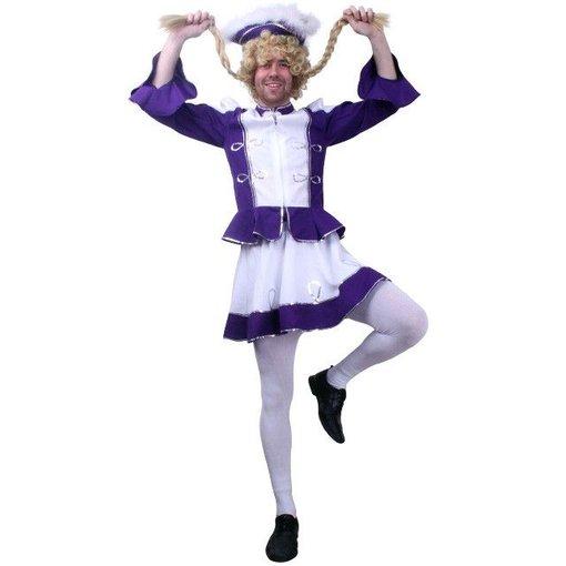 Cheerleader pak heren paars