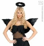 Gevederde vleugels zwart 71x45cm