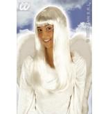 Pruik engel wit