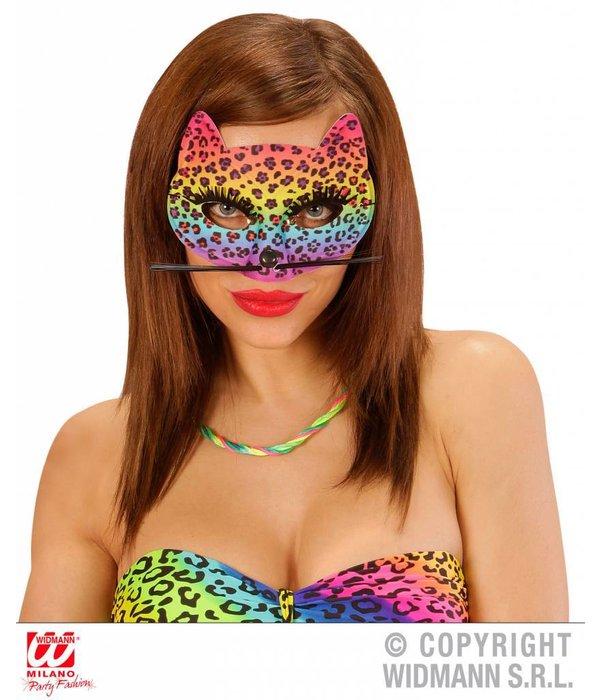 Oogmasker luipaard regenboog
