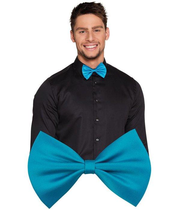 Strikje turquoise basic