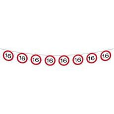 Vlaggenlijn verkeersbord 16 jaar