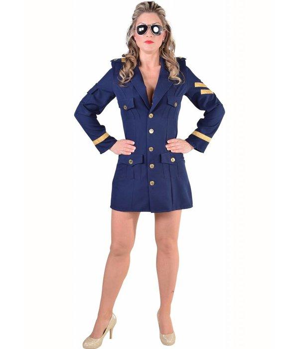 Piloten kostuum vrouw elite