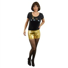Hotpants metallic goud