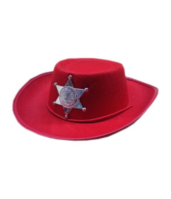 Cowboy hoedje kind rood