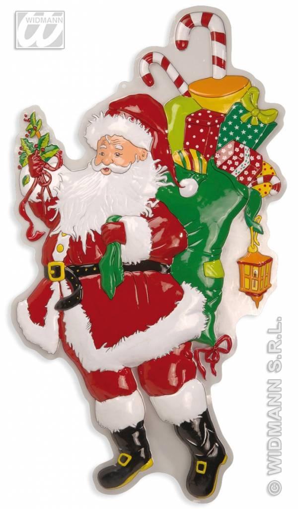 a8a48d87ae9a0b Wanddecoratie kerstman met zak en laurier - Feestbazaar.nl