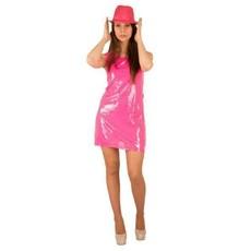 Feest jurkje spangles roze
