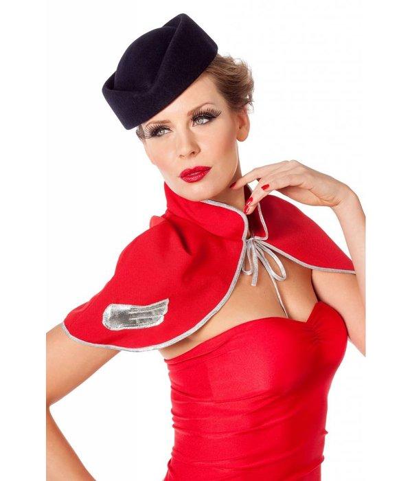 Hoedje stewardess wolvilt donkerblauw