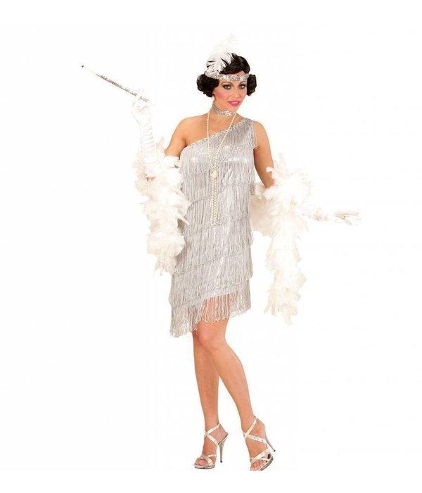 Flapper kostuum zilver