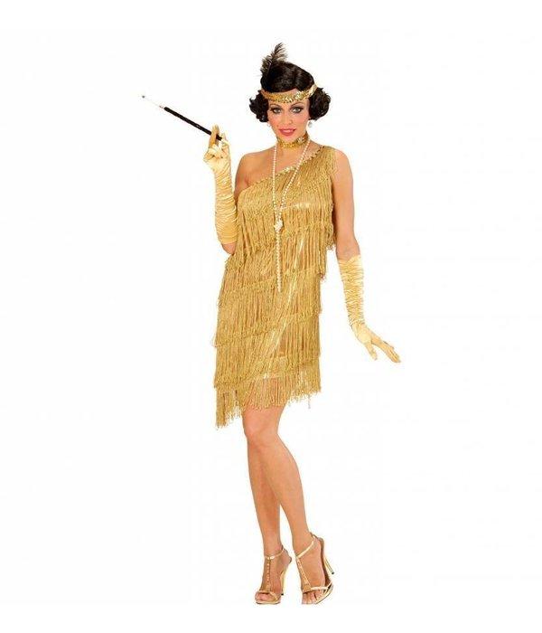 Flapper kostuum goud