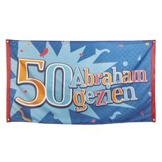 Polyester vlag '50 Abraham gezien'