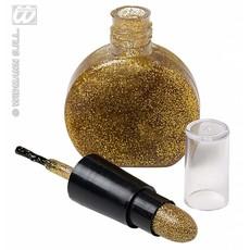 Combi nagellak en lippenstift goud
