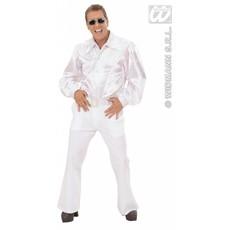Witte blouse met pailletten man