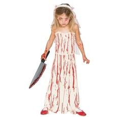 Bebloede bruid kind