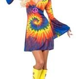 1960's Tie Dye kostuum vrouw