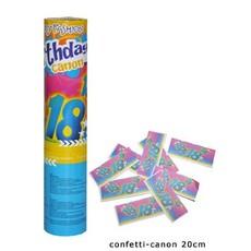 Confetti kanon verjaardag 18